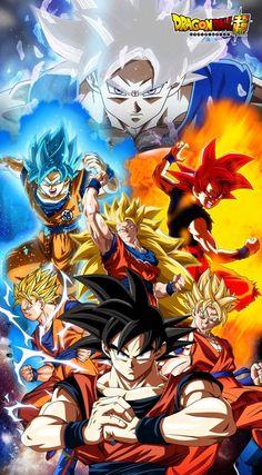 Goku - All Forms, Dragon Ball Super - anime Dbz Art, Dragon Ball Goku, Art, Anime, Anime Dragon Ball Super, Anime Characters, Dragon, Z Arts