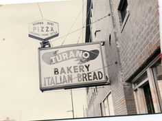Old Turano Shop Sign I remember dad taking me to the store for Bread and pizza to take home love it From the Strafaci family