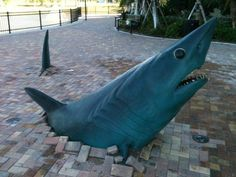 "Kent Ullberg's latest work, ""Underground Shark,"" was dedicated at Nova Southeastern University (NSU) in Palm Beach Gardens, Florida."