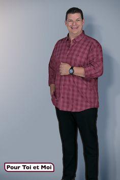 Chemise homme fort pour l'automne. #chemise #shirt #grandetaille #bigsize Sweat Shirt, Blazer, Button Down Shirt, Men Casual, Polo, Mens Tops, Shirts, Fashion, Plus Sized Clothing