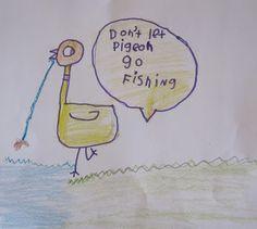 shine brite zamorano: kindergarten art lesson; Don't Let the Pigeon Drive the Bus