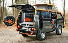 Volkswagen T3/ Vanagon 4x4 camper van. Just about anything can be made Into a camper.