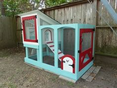 I love the cute details of this small, practical coop! Scalloped woodwork is perfect for my future brood! May not use the exact color scheme though. Would use colors complimentary to my house. 700