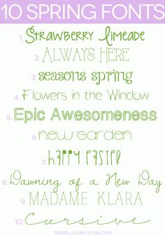 10 Free Spring Fonts