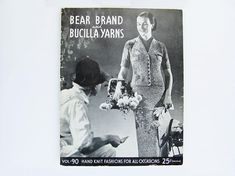 Knitting Instructions  Book 1936 Bear Brand Bucilla Yarns Hand Knit Fashions For All Occasions Day & Evening Dresses Suits Coats 65 pages