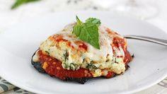 Lasagna-Stuffed Portobello Mushrooms.....Lasagna stuffed into portabella mushroom caps – yum!