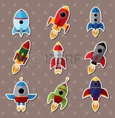 spaceship stickers  photo