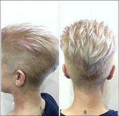 Coole Kurzhaarfrisuren Blond für Damen