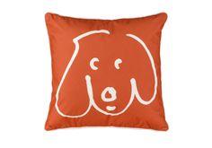cute dog accent pillow