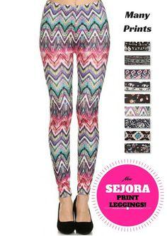 075e17b843fc4d SEJORA Printed Leggings - Full Length Seamless Fashion Patterned - Many  Designs at Amazon Women's Clothing store: