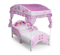 Delta Children Canopy Toddler Bed Disney Princess  sc 1 st  Pinterest & Minnie Mouse Toddler Bed with Canopy | Cute Minnie Mouse Toddler ...