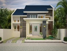 Minimal House Design, Minimal Home, Small House Design, Luxury Homes Dream Houses, Little Houses, House Front, Types Of Houses, Ideal Home, House Plans