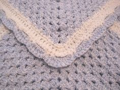 Crochet, Baby Blanket, Newborn, Baby Boy, Blue Sparkle, Baby Afghan, Baby Shower Gift by AfghansForBabies on Etsy