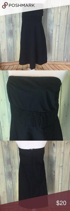 Gap Black Strapless Dress 100% Cotton Gap Plus Size Strapless Dress.  About knee length or a little below.  No flaws. Gap Dresses Strapless