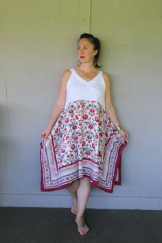 upcycled summer tunic dress hippie Bohemian clothing X Large 1 X Artsy Eco Romantic tunic funky top Artsy dress by LillieNoraDryGoods