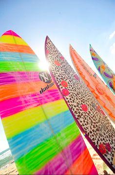 Leopard print surfboard
