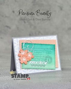 Parisian Blossoms Suite | All Star Tutorial Bundle Blog Hop Fancy Fold Cards, Folded Cards, Stampin Up Canada, Romantic Images, Paper Design, I Card, Parisian, All Star, Nice People