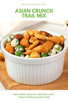 Crunchy, savoury and absolutely delicious - this homemade trail mix is a yummy afternoon snack option. You can prep a big batch and enjoy for up to two weeks! Wasabi Peas, Homemade Trail Mix, Chex Mix, Recipe Details, Afternoon Snacks, Healthy Snacks, Dairy Free, Vegan Recipes, Vegane Rezepte