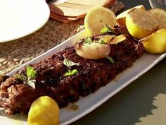 Smoked Pork Ribs Recipe on the Grill - from Ina Garten and Michael Symon - Food Network Pork Rib Recipes, Grilling Recipes, Cooking Recipes, Game Recipes, Smoker Recipes, Yummy Recipes, Chef Recipes, What's Cooking, Recipes Dinner