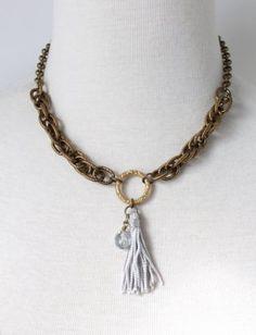 Sheer Addiction Jewelry - Delaney short necklace