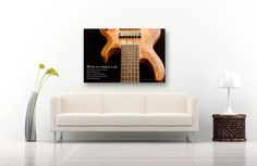 Musical Instrument Photography on CANVAS Bass Guitar Gallery Wrapped Photographic Print Music Gift for Guitarist Contemporary Office or Home Decor Ready to Hang 8x10 8x12 11x14 12x18 16x20 16x24 20x30. This one is in honor of a bass guitarist I know who is graduating this year: Her favorite guitar and music quote combined. Perhaps it will strike a chord with you too. Title: Music is a Moral Law The quote is from Plato, and it reads: Music is a moral law. It gives soul to the universe…