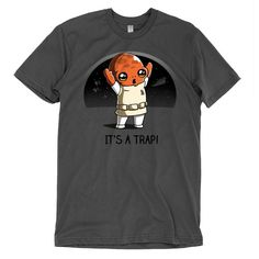 """One of our favorite Star Wars quotes got better with this cute Admiral Ackbar """"It's a trap"""" shirt."""