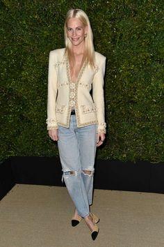 Poppy Delevigne attends the Chanel dinner in LA