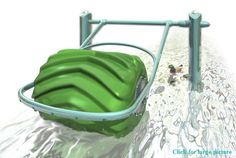 This would work great to generate electricity without harming the environment in shallow rivers and streams.