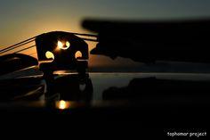 violin sunset - null