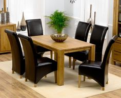 d08353352d25 Buy Mark Harris Avignon Solid Oak Rectangular Extending Dining Set with 4  Roma Brown Chairs - online by Mark Harris Furniture from CFS UK at  unbeatable ...