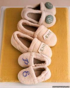 Monogrammed Slippers How-To