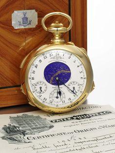 La montre Henry Graves Supercomplication vintage de Patek Philippe chez Sotheby's Geneva http://www.vogue.fr/joaillerie/le-bijou-du-jour/diaporama/la-montre-henry-graves-supercomplication-vintage-de-patek-philippe-chez-sotheby-s-geneva/19608#!2