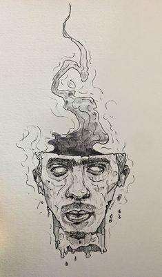 - ̗̀ sagt mein er A rt ̖́- - Art xx - - {hashtag} - Arte Sketchbook, Hippie Art, Art Hoe, Art Drawings Sketches, Psychedelic Art, Aesthetic Art, Dark Art, Art Inspo, Art Inspiration Drawing