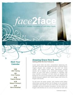 Youth ministry newsletter | Design Inspiration: Newsletters & Info ...
