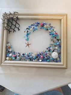 Sea Glass Crafts, Sea Crafts, Sea Glass Art, Resin Crafts, Resin Art, Seashell Art, Seashell Crafts, Starfish, Button Art