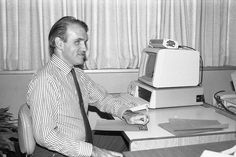 U2S5B09F48N009 - Tim Brothers - student worker & programmer at his computer, writing programs in braille by Cincinnati State Archives, via Flickr