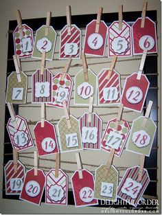 Delightful Order: Advent Christmas Countdown Calendar & Free Printables