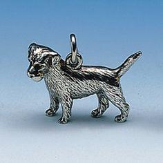Anhänger Border-Terrier Breite 24 mm / Höhe 18 mm Silbergewicht: 8,0 g