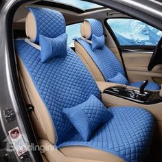 HEAVY DUTY BLACK /& BLUE TRAX SEAT COVER SET for RENAULT CAPTUR 13-ON
