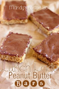 Who remembers their favorite dessert from school lunch? Lunch Lady Peanut Butter Bars were my favorite. Practically perfect in every way.