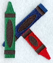 Crayon Letter K - 3 inch