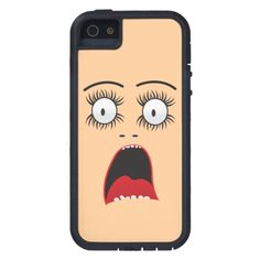 Funny Suprized lady face iPhone 5 Case
