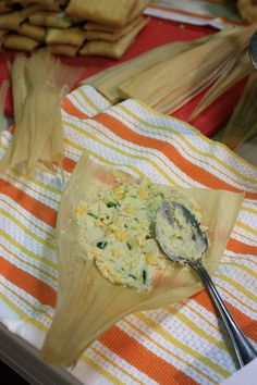 Zucchini and Corn Tamales! One of our favorite tamale recipes here at Vegetarian Tamales, Vegan Tamales, Corn Tamales, Vegetarian Recipes, Mexican Tamales, Chicken Tamales, Authentic Mexican Recipes, Mexican Dinner Recipes, Mexican Dishes