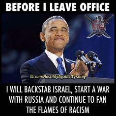 Even up to the very end, he continues to make trouble...OBummer time to heave HoGet OUT NOW...Jan 20th can't come Fast Enough! TRUMP⭐️❤️️