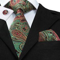 Mens Tie Blue Stripe Silk Jacquard Necktie Hanky Cufflink Set Business Wedding Party Ties For Men Men's Gift Mens Ties Crafts, Extra Long Ties, Mens Silk Ties, Men Ties, Man Weave, Tie Pattern, Paisley Tie, Cufflink Set, Tie Styles