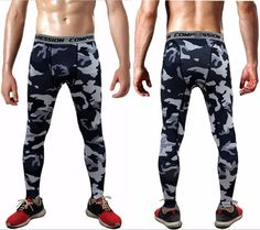 Mens compression pantalon musculation jogger exercice fitness skinny leggings comperssion collants pantalon pantalon vê Tactical Cargo Pants, Cargo Pants Men, Mens Trousers Casual, Casual Pants, Men Casual, Mens Compression Pants, Mens Tights, Camouflage Pants, Fashion Pants