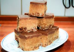 comfortable food - triple layer peanut butter and chocolate fudge