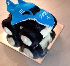 Monster Truck Cake. MonsterJam, Shark Wreak, kids birthday cake.