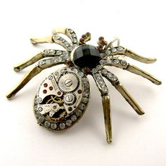 Rustic Spider Pendant  Steampunk Spider Pendant by SteamSect, $25.00