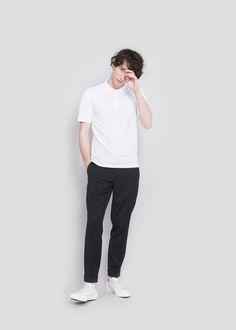 The ASKET Pique Polo in White